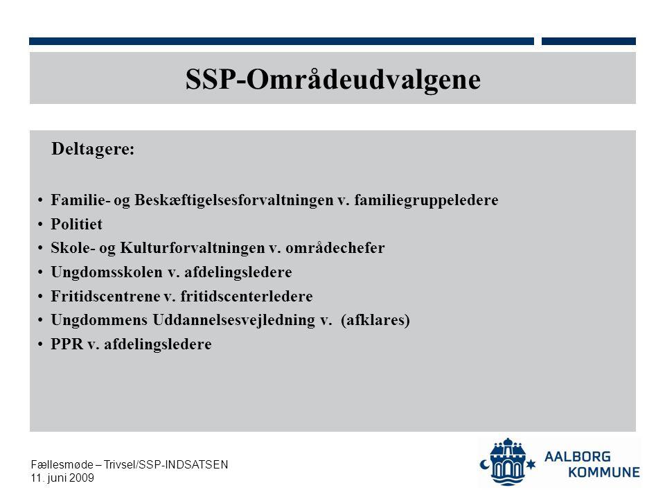 SSP-Områdeudvalgene Deltagere: