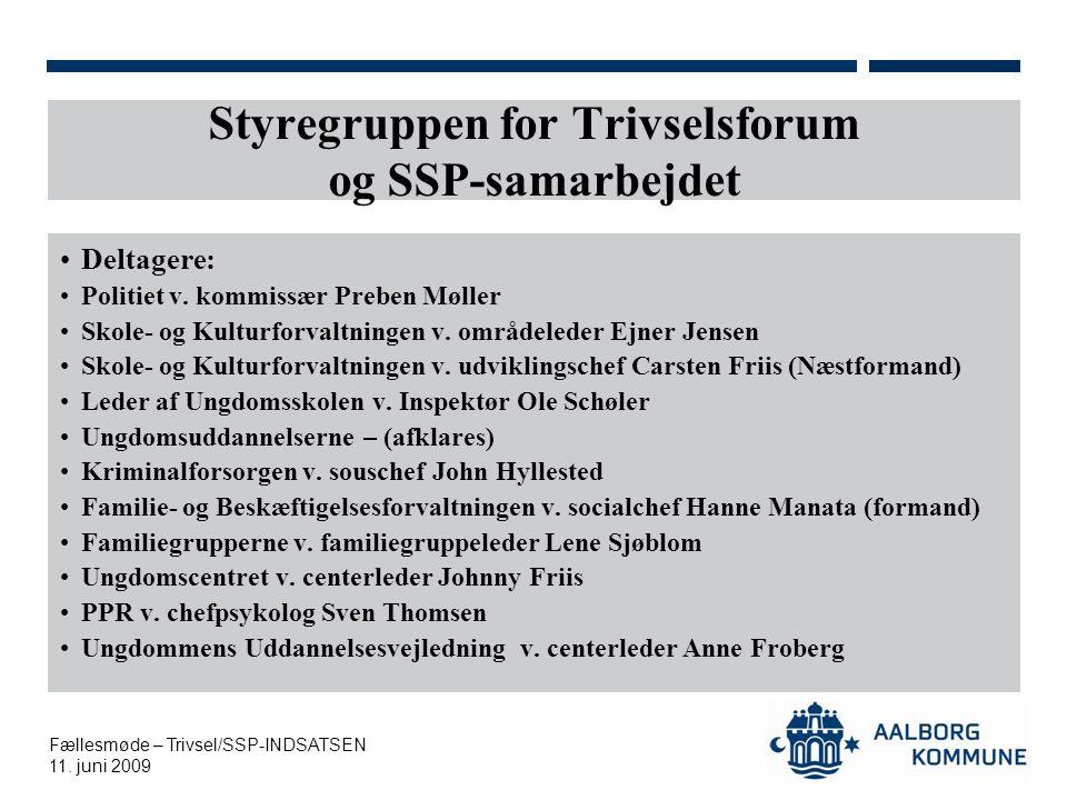 Styregruppen for Trivselsforum og SSP-samarbejdet
