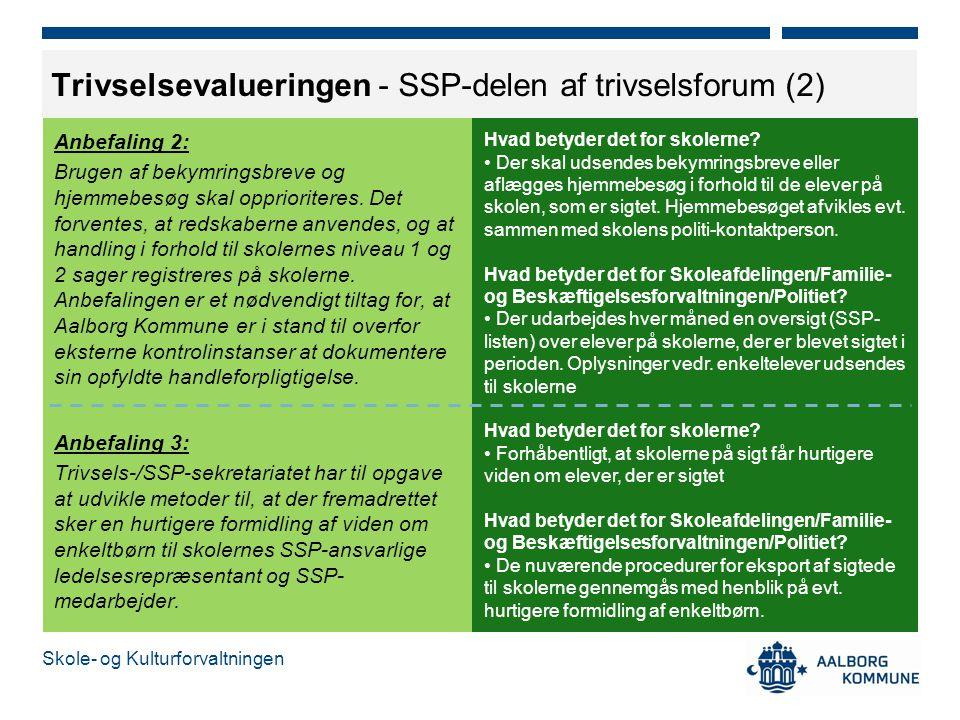Trivselsevalueringen - SSP-delen af trivselsforum (2)