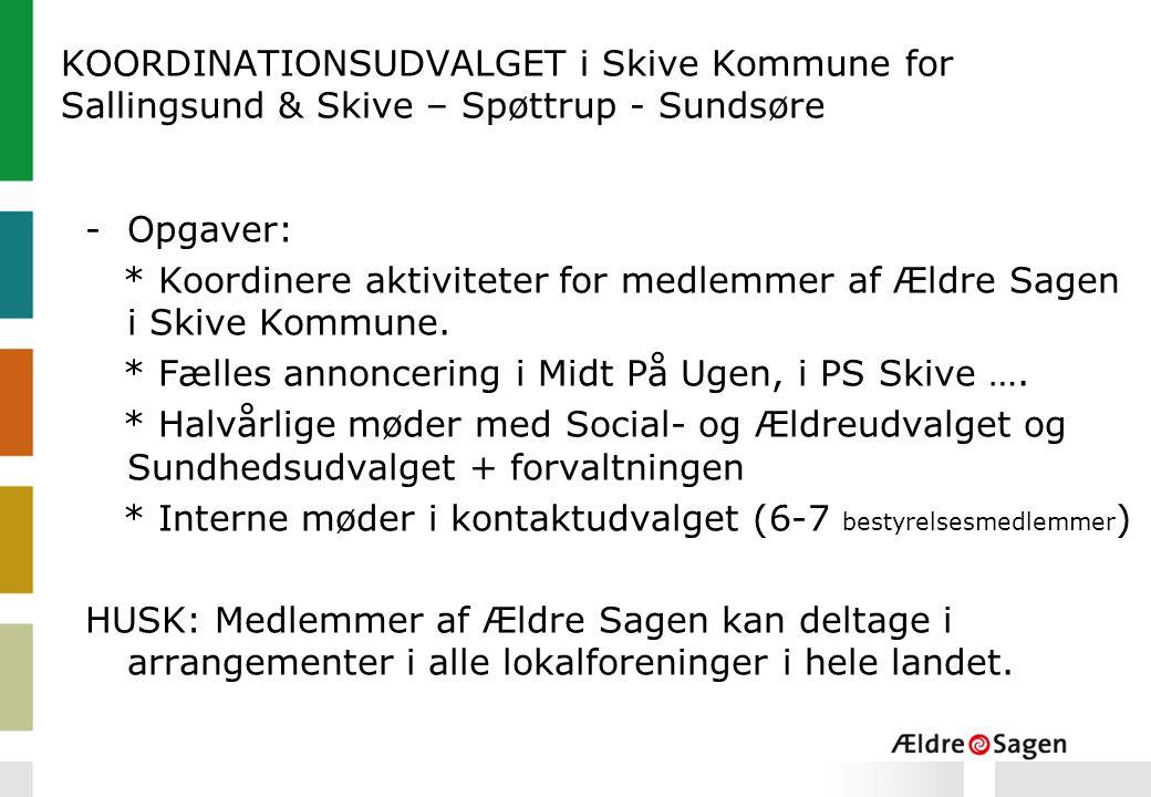 KOORDINATIONSUDVALGET i Skive Kommune for Sallingsund & Skive – Spøttrup - Sundsøre