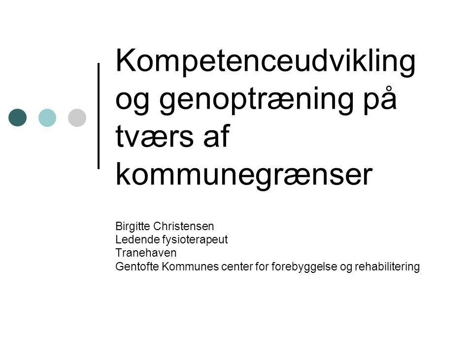 Kompetenceudvikling og genoptræning på tværs af kommunegrænser