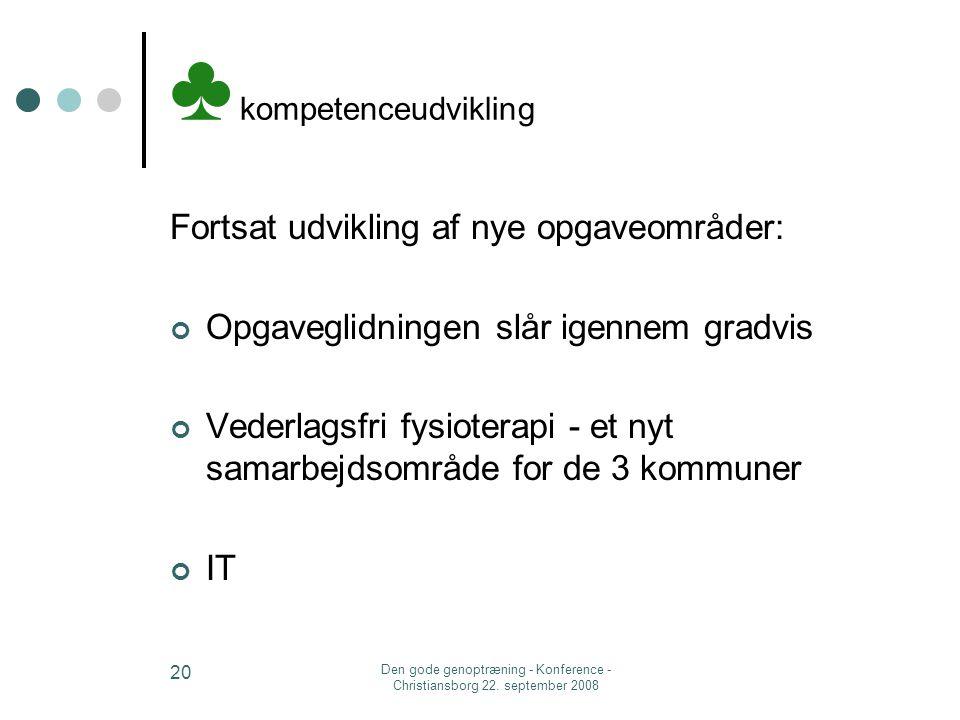 ♣ kompetenceudvikling