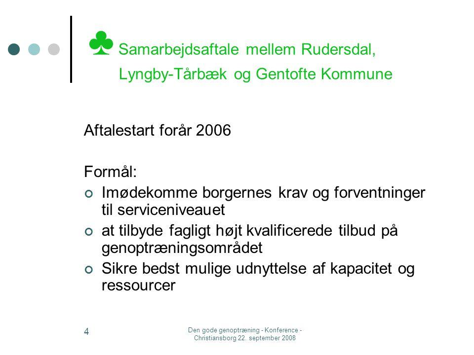♣ Samarbejdsaftale mellem Rudersdal, Lyngby-Tårbæk og Gentofte Kommune
