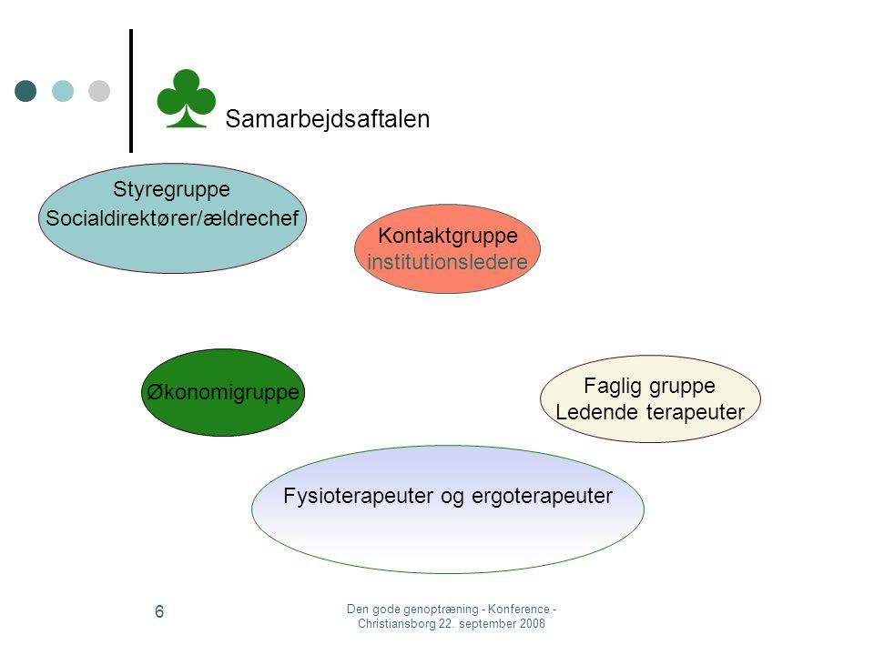 ♣ Samarbejdsaftalen Styregruppe Socialdirektører/ældrechef