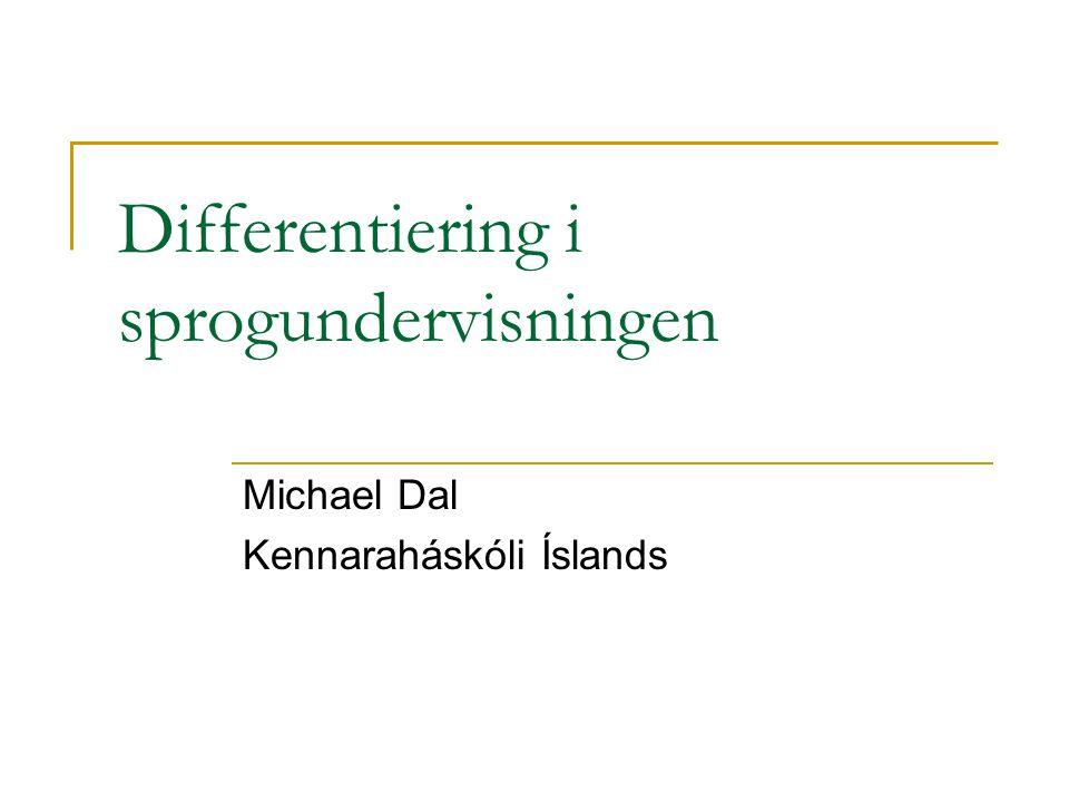 Differentiering i sprogundervisningen