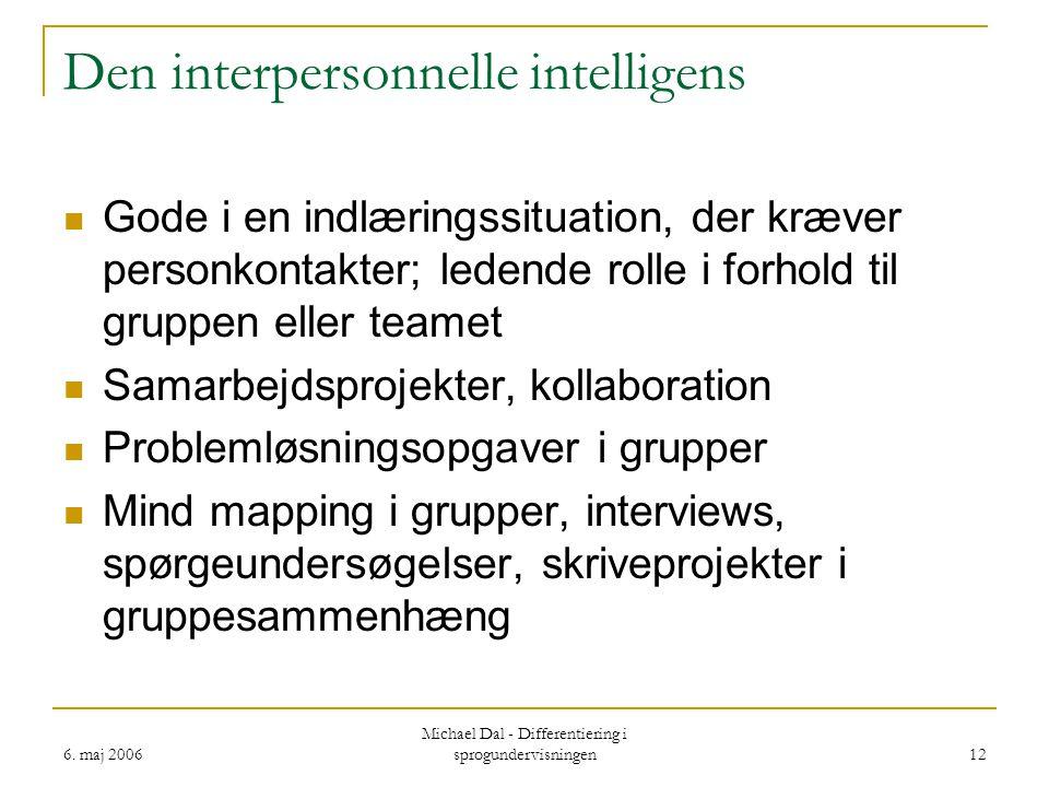 Den interpersonnelle intelligens