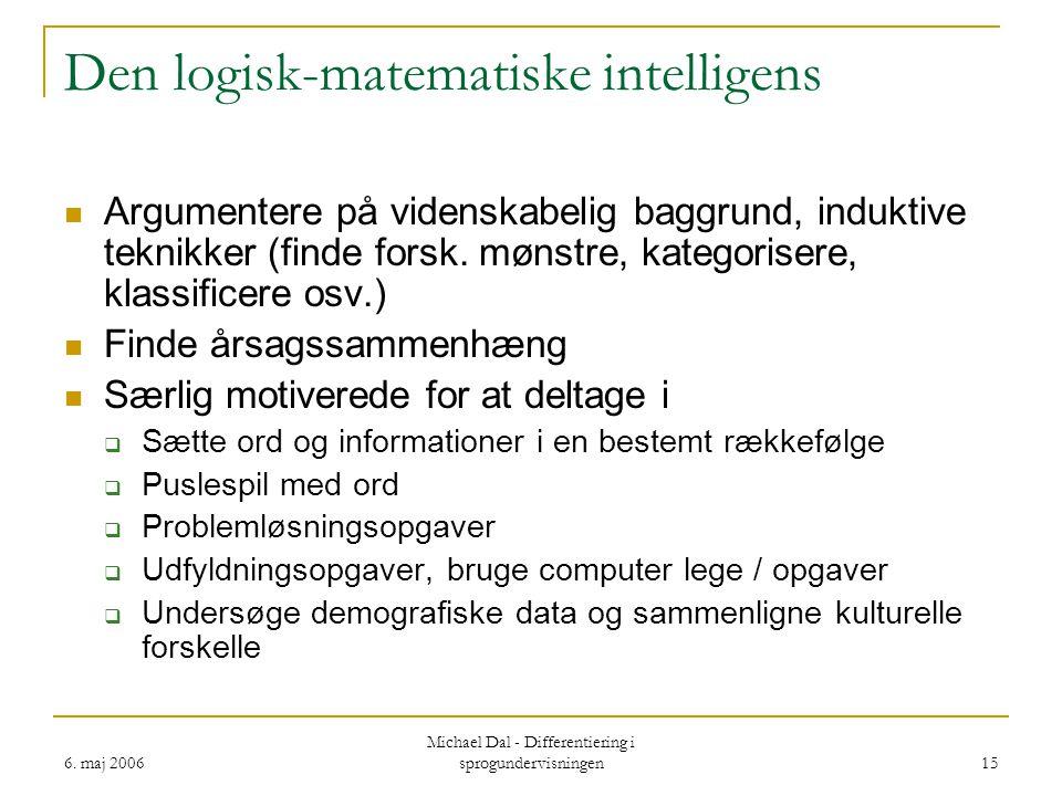 Den logisk-matematiske intelligens