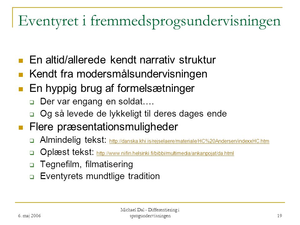 Eventyret i fremmedsprogsundervisningen