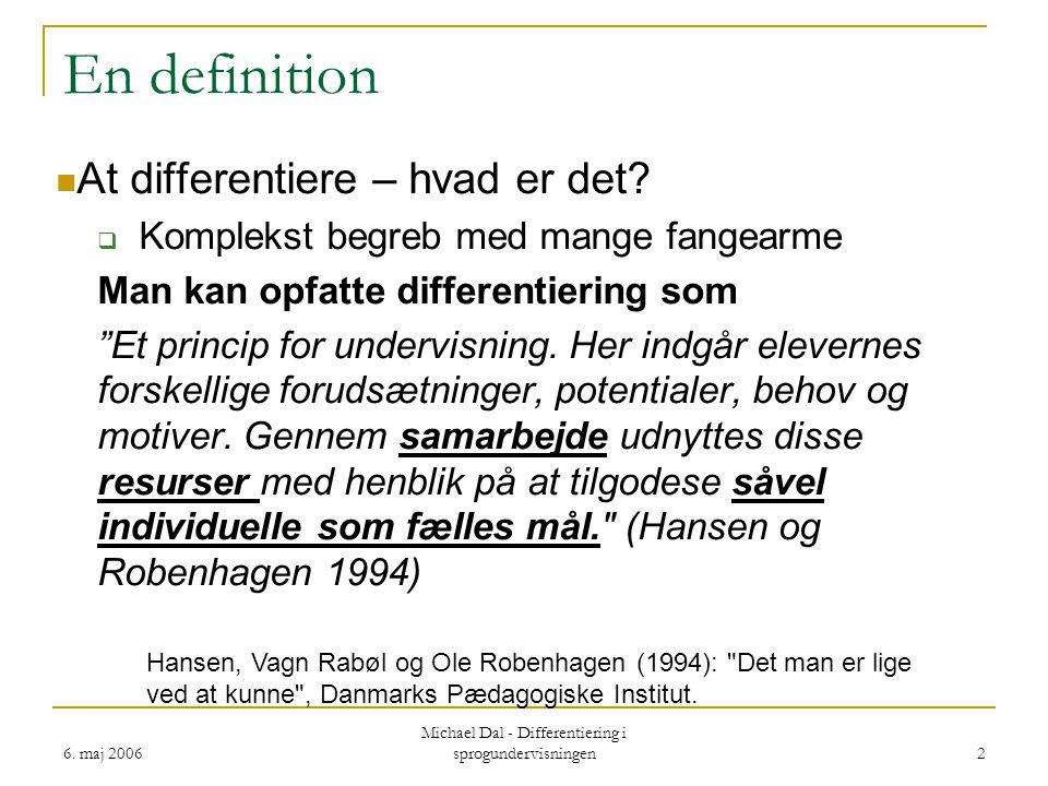 Michael Dal - Differentiering i sprogundervisningen