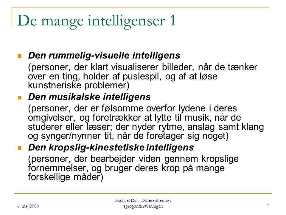 De mange intelligenser 1