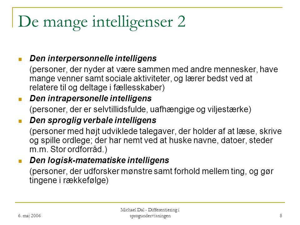 De mange intelligenser 2