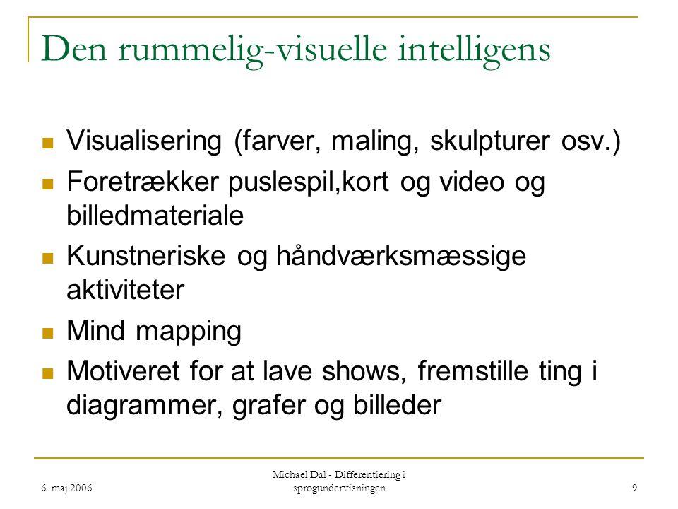 Den rummelig-visuelle intelligens