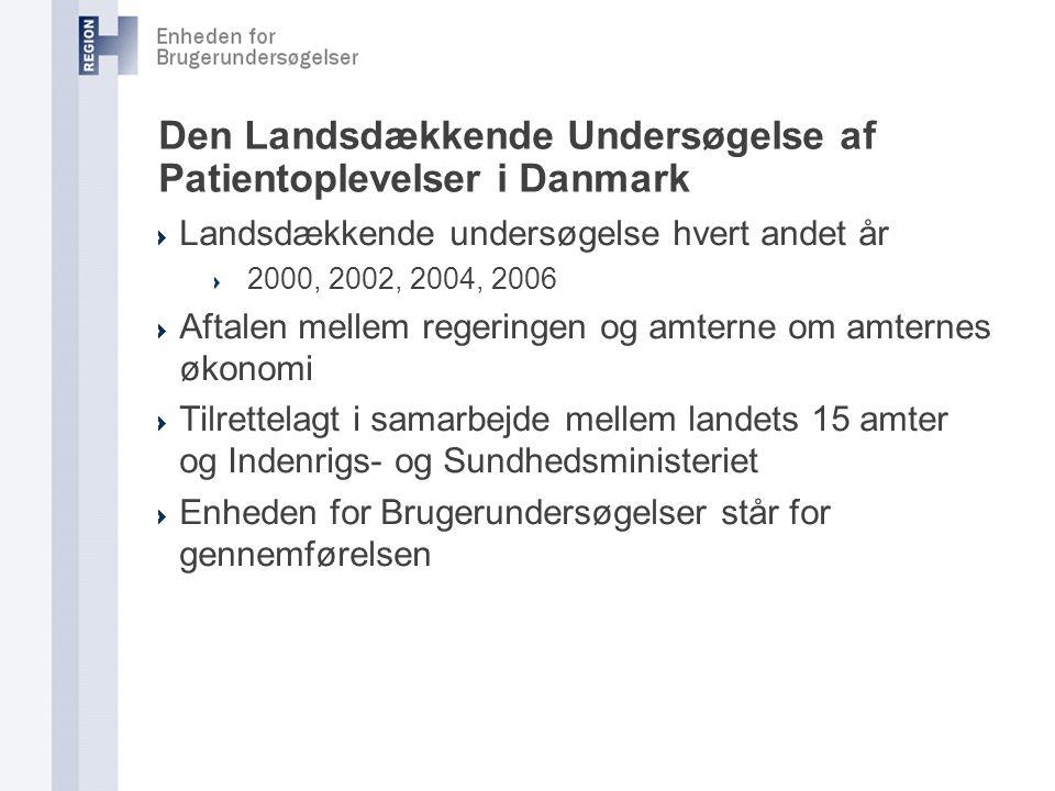 Den Landsdækkende Undersøgelse af Patientoplevelser i Danmark