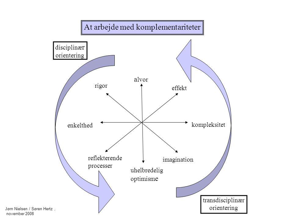 At arbejde med komplementariteter