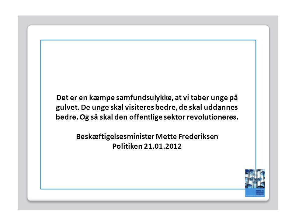 Beskæftigelsesminister Mette Frederiksen