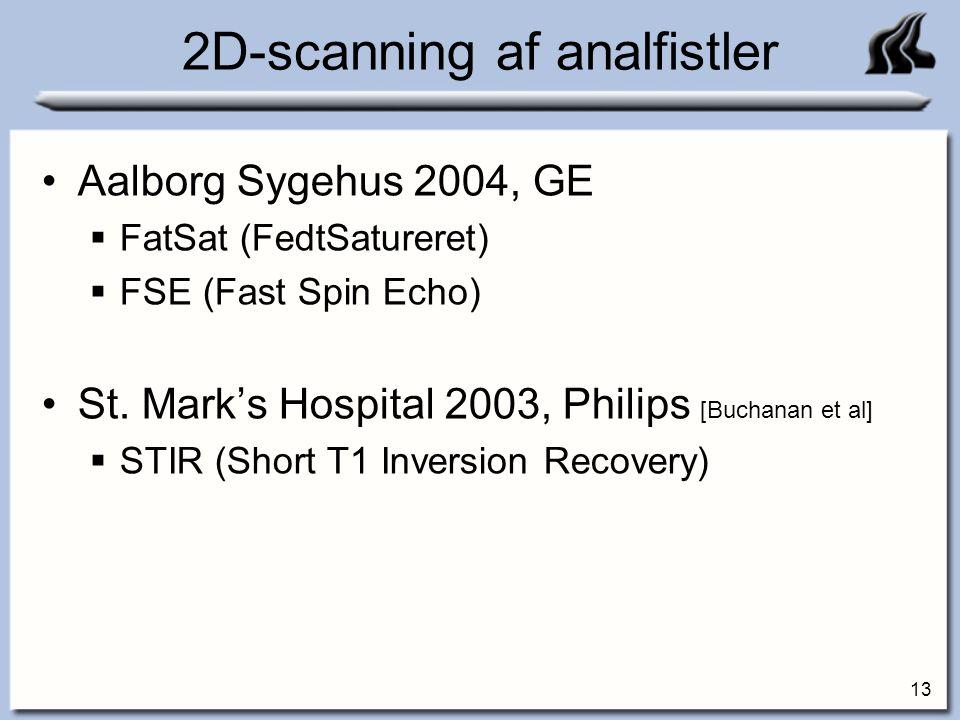 2D-scanning af analfistler