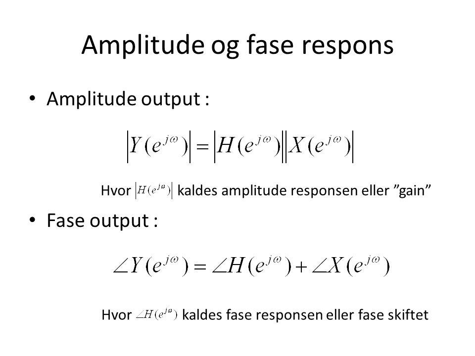 Amplitude og fase respons