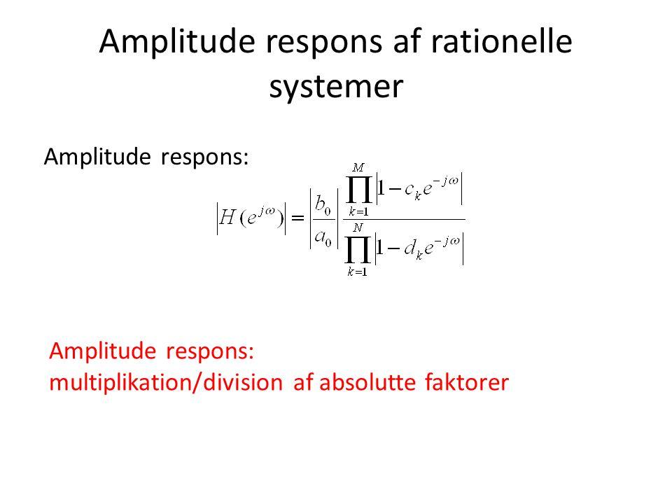Amplitude respons af rationelle systemer