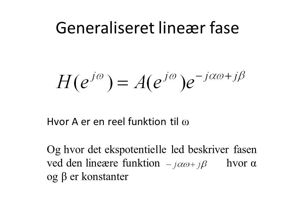 Generaliseret lineær fase