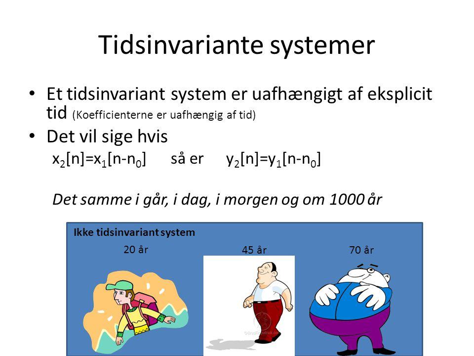 Tidsinvariante systemer