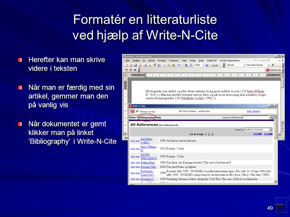 bibliography formater