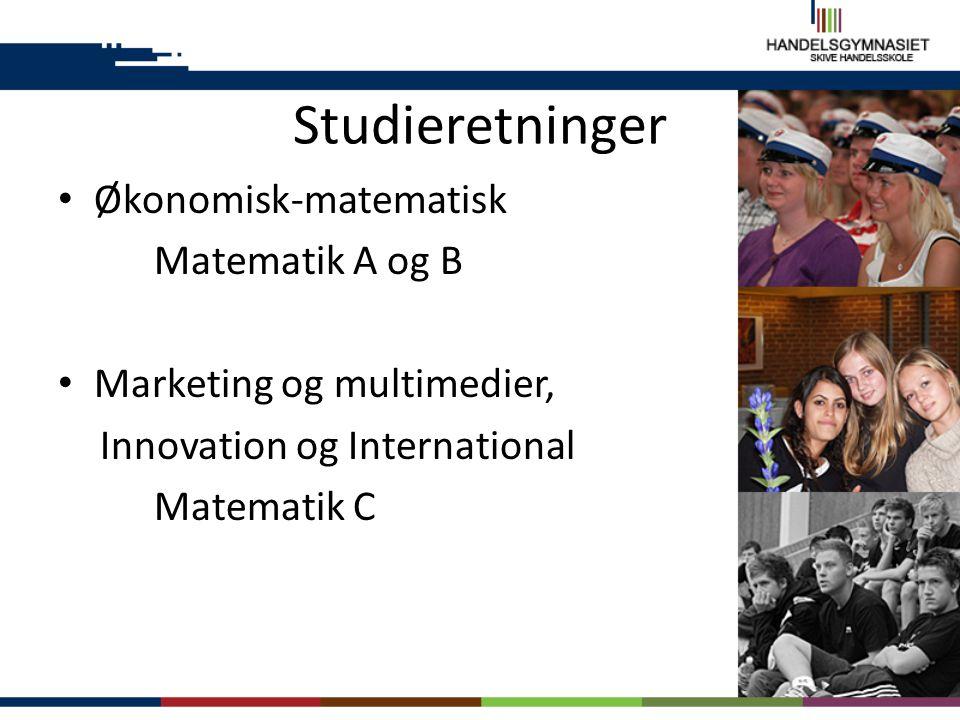 Studieretninger Økonomisk-matematisk Matematik A og B