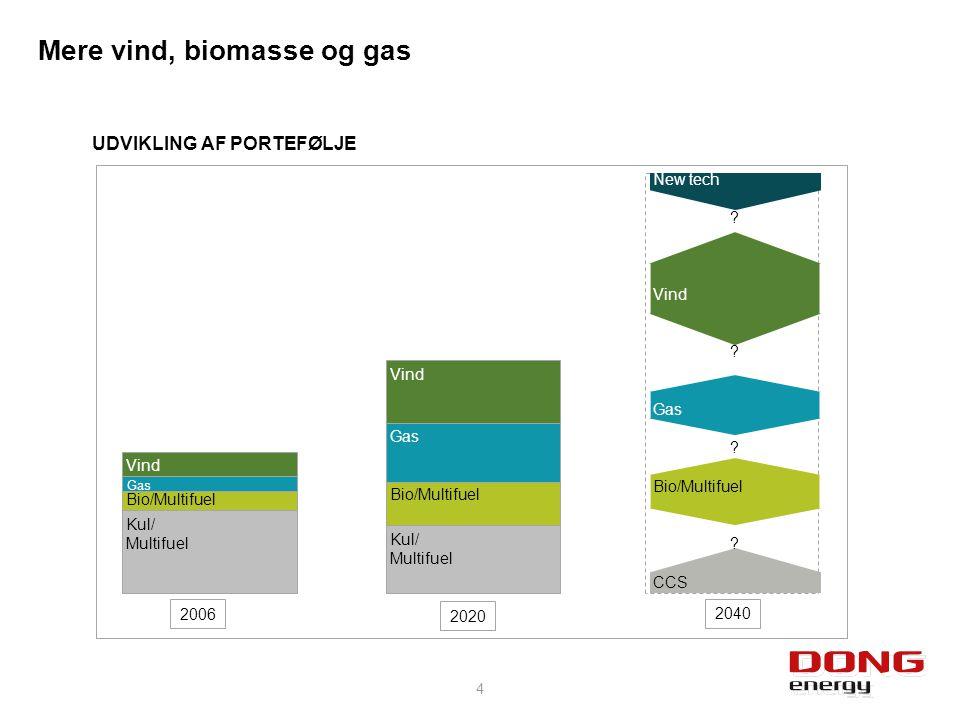 Mere vind, biomasse og gas