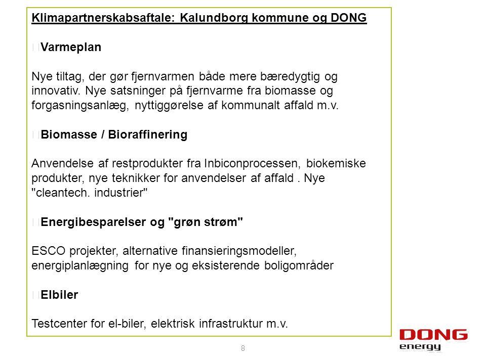 Klimapartnerskabsaftale: Kalundborg kommune og DONG