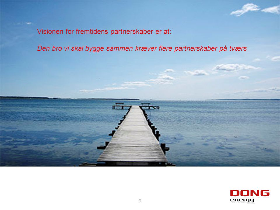 Visionen for fremtidens partnerskaber er at: