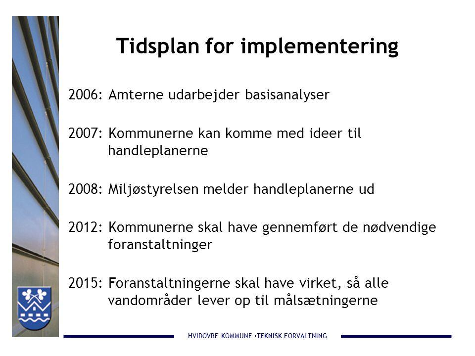 Tidsplan for implementering