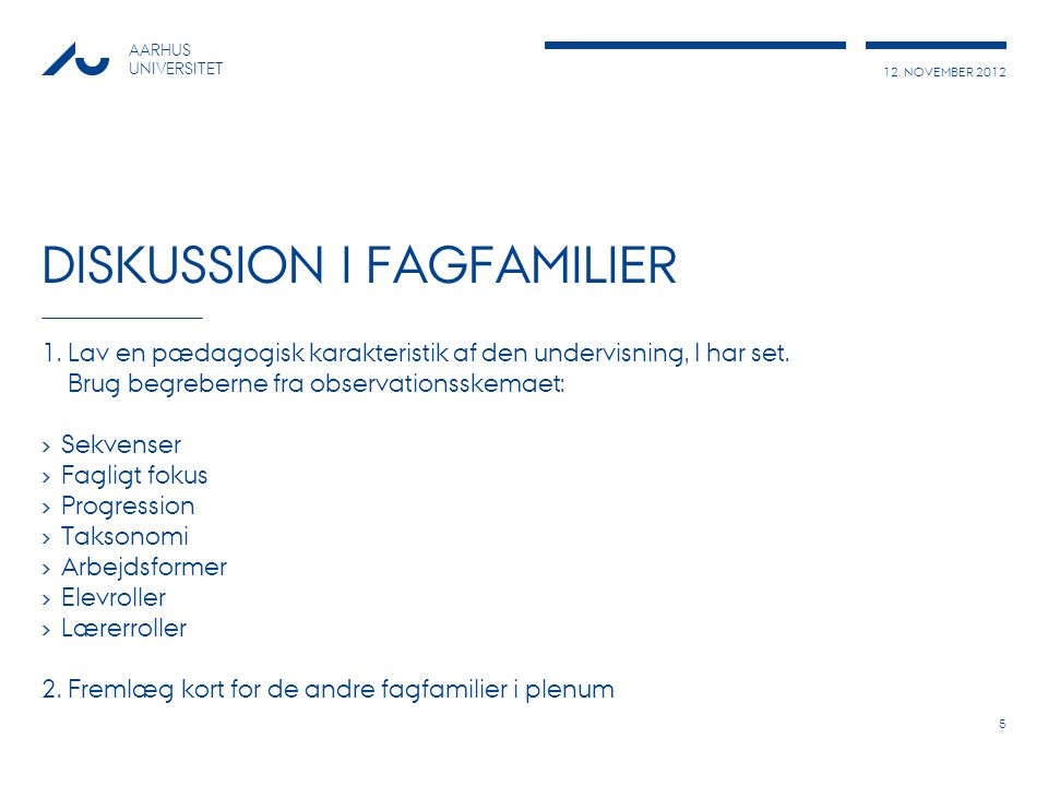 Diskussion i fagfamilier