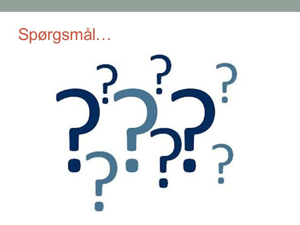 Spørgsmål…