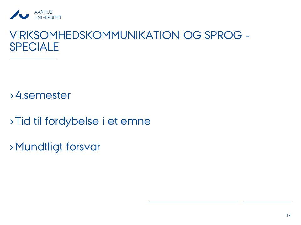 Virksomhedskommunikation og sprog - speciale