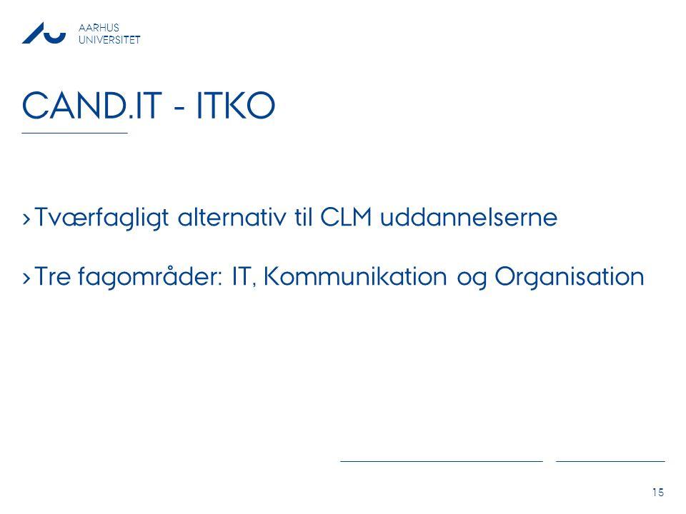 Cand.it - itko Tværfagligt alternativ til CLM uddannelserne