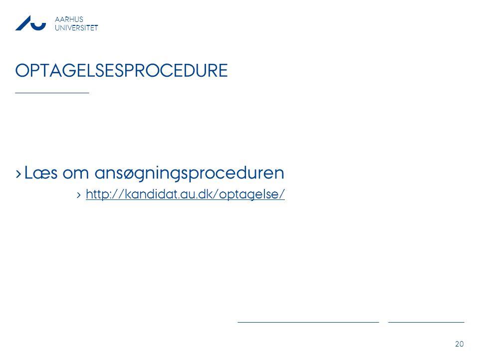 Læs om ansøgningsproceduren