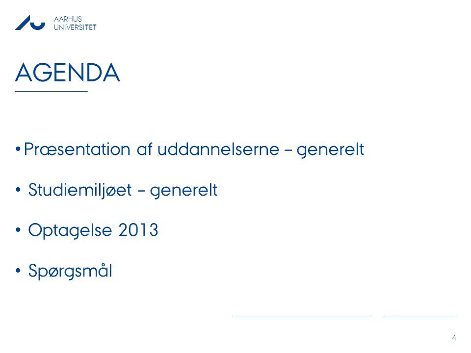 Agenda Præsentation af uddannelserne – generelt