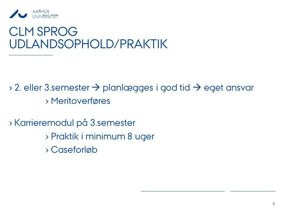 Clm sprog Udlandsophold/praktik
