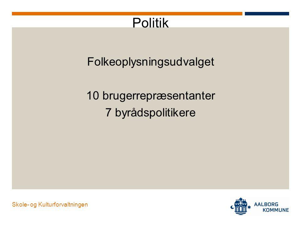 Politik Folkeoplysningsudvalget 10 brugerrepræsentanter
