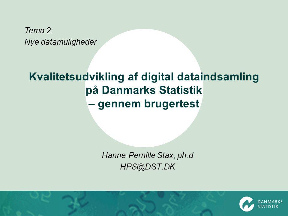 Hanne-Pernille Stax, ph.d HPS@DST.DK