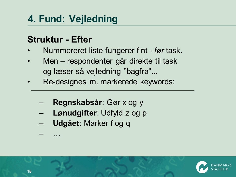 4. Fund: Vejledning Struktur - Efter