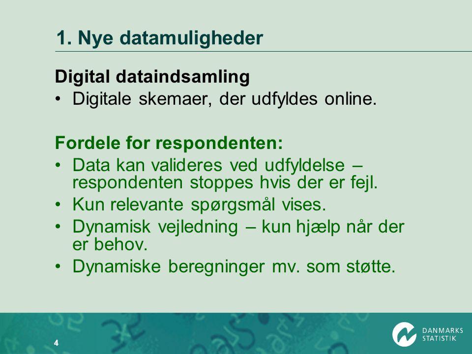 1. Nye datamuligheder Digital dataindsamling