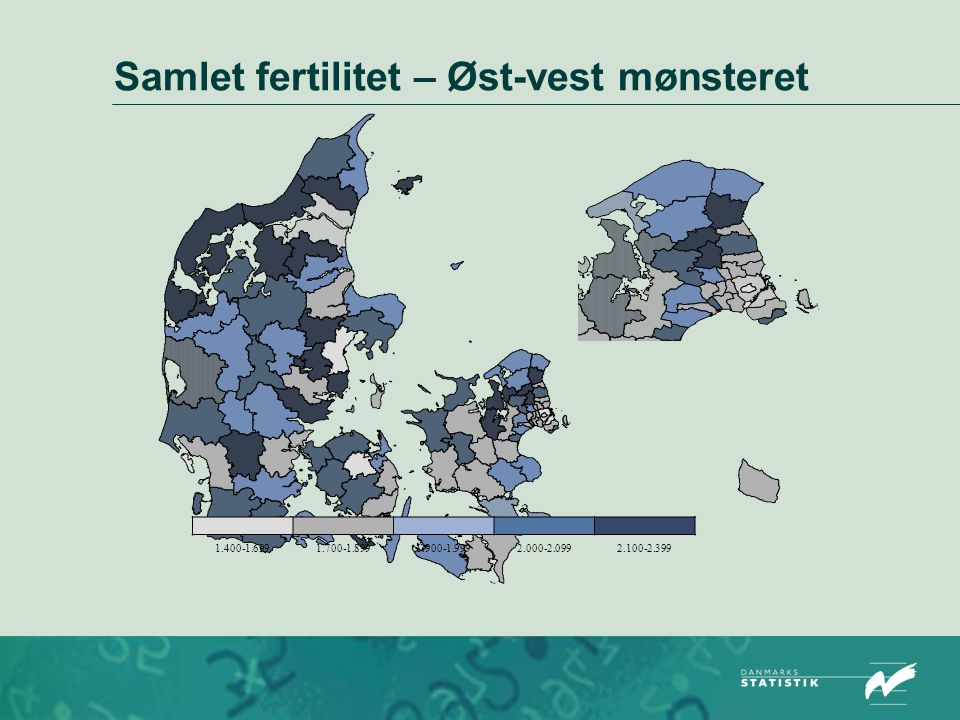 Samlet fertilitet – Øst-vest mønsteret