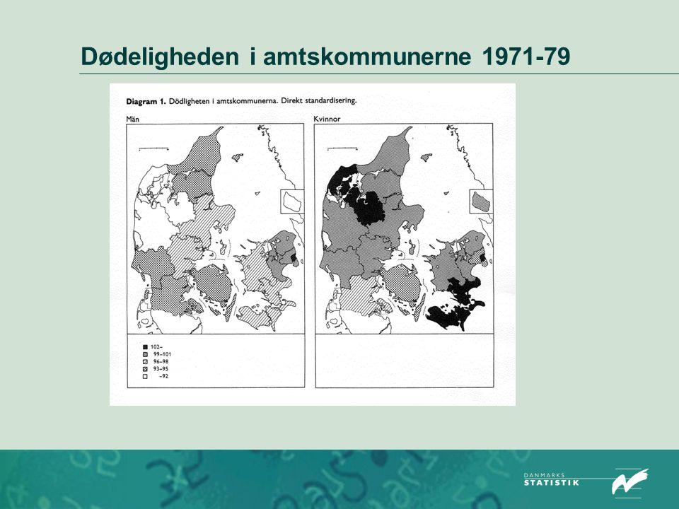 Dødeligheden i amtskommunerne 1971-79