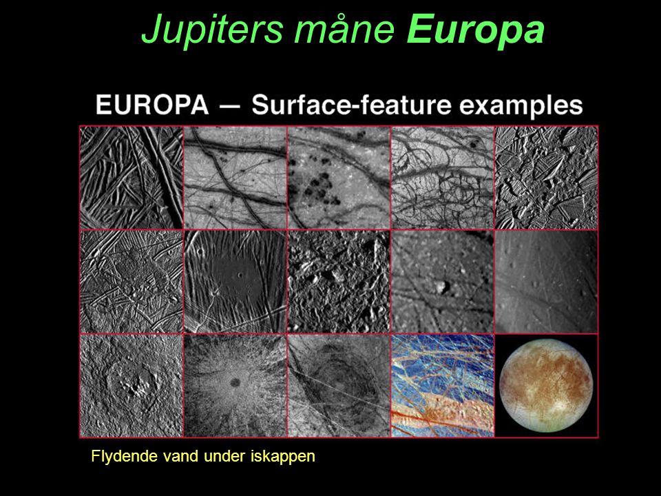 Jupiters måne Europa Flydende vand under iskappen