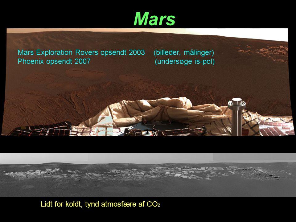 Mars Mars Exploration Rovers opsendt 2003 (billeder, målinger)