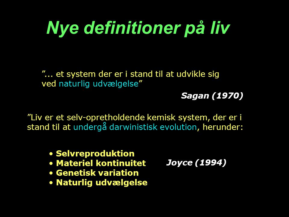 Nye definitioner på liv