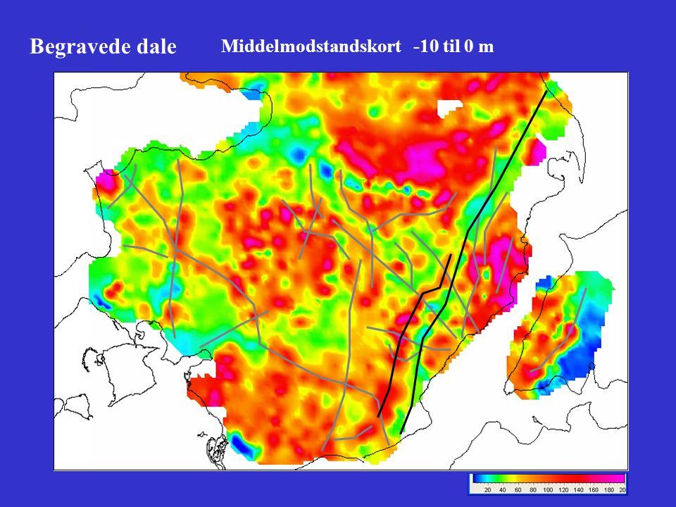 Begravede dale Middelmodstandskort -10 til 0 m