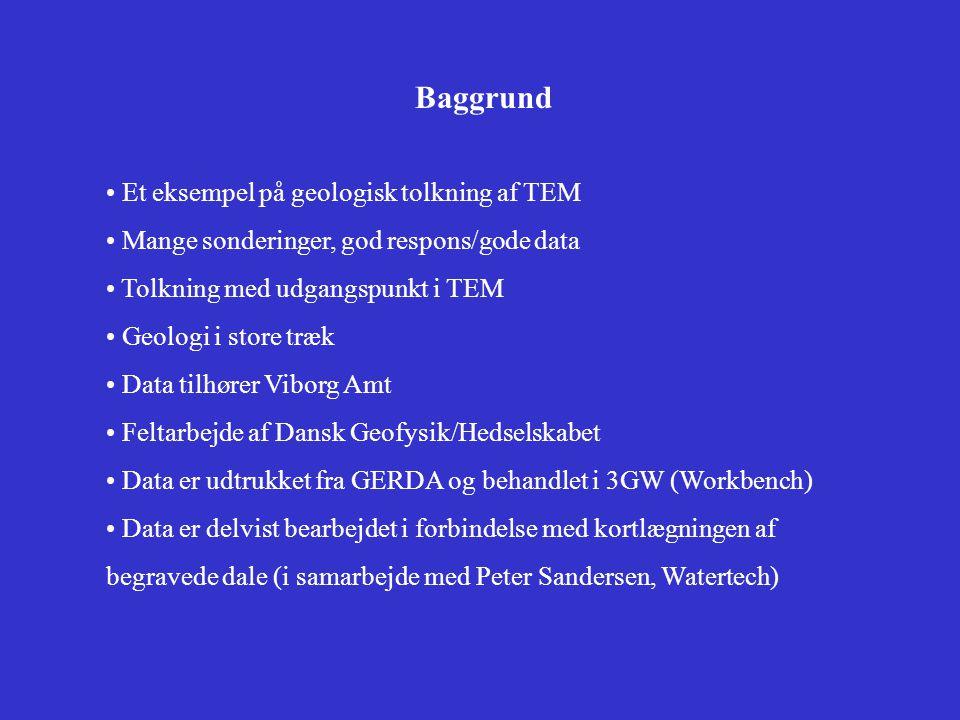 Baggrund Et eksempel på geologisk tolkning af TEM