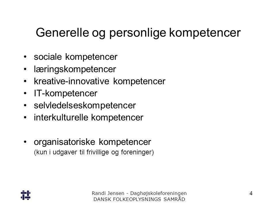 Generelle og personlige kompetencer