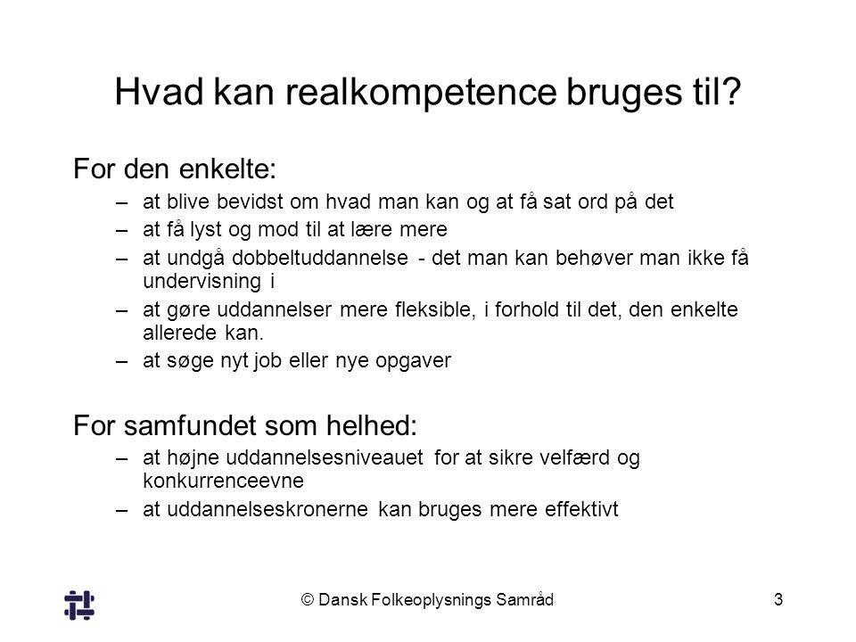Hvad kan realkompetence bruges til